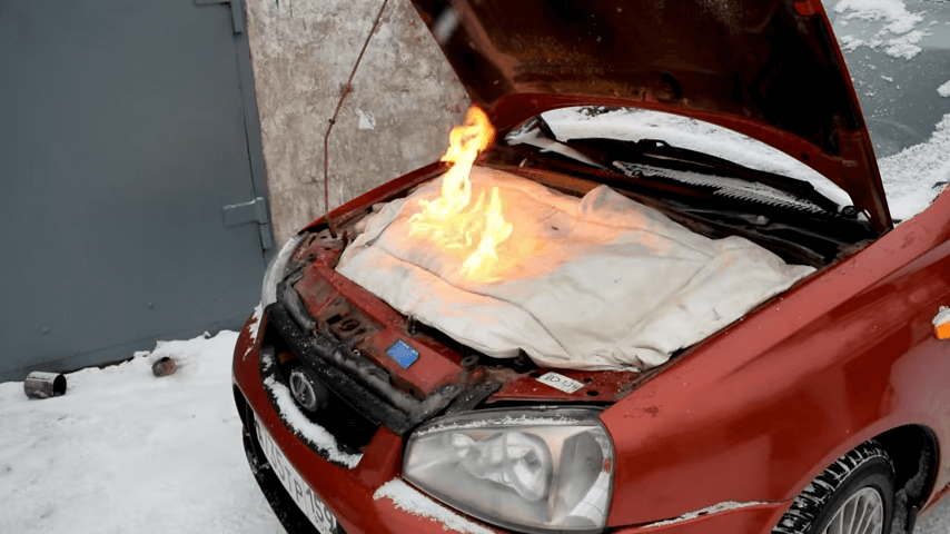 Утеплитель для двигателя автомобиля