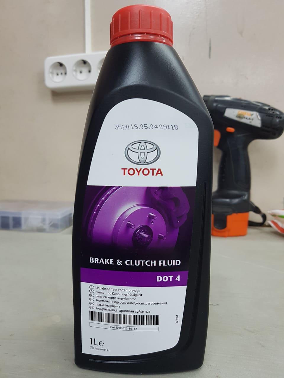 Какую тормозную жидкость заливать в автомобили марки Тойота